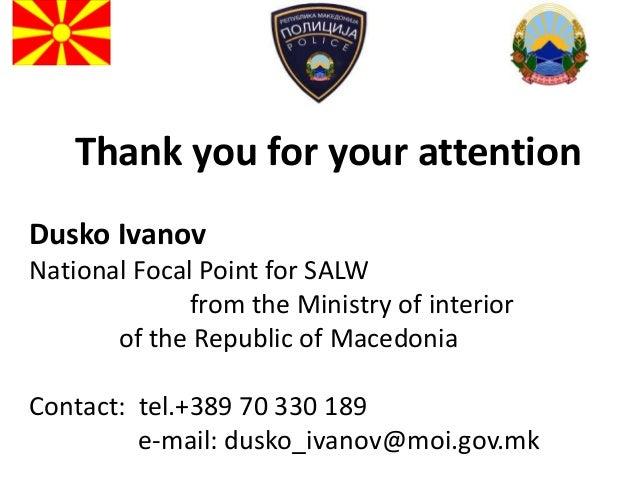Dusko Ivanov Ministry Of Interior The Former Yugoslav