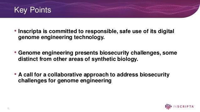 Biosecurity Challenges in the Genome Engineering Space – Beth Vitalis Slide 2