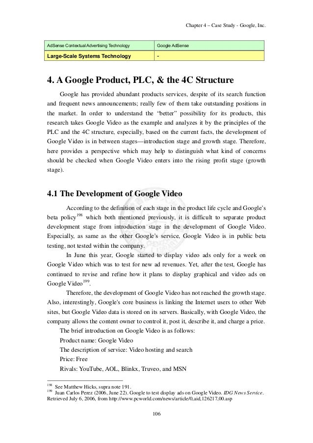 chapter 4 case study google in View homework help - case study 3 - google, apple, and facebook struggle for your internet experience from ism 3011c at seminole state college of florida kenneth gray ism3013 case study 3.