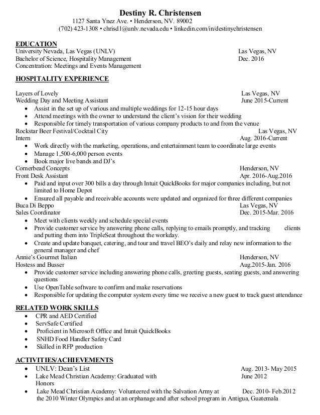 Destiny Christensen Resume Sep 2016