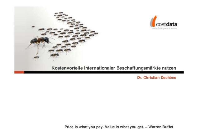 Kostenvorteile internationaler Beschaffungsmärkte nutzen                                                          Dr. Chri...