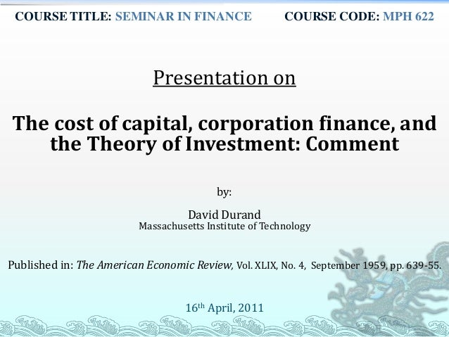 capital structure theories pdf