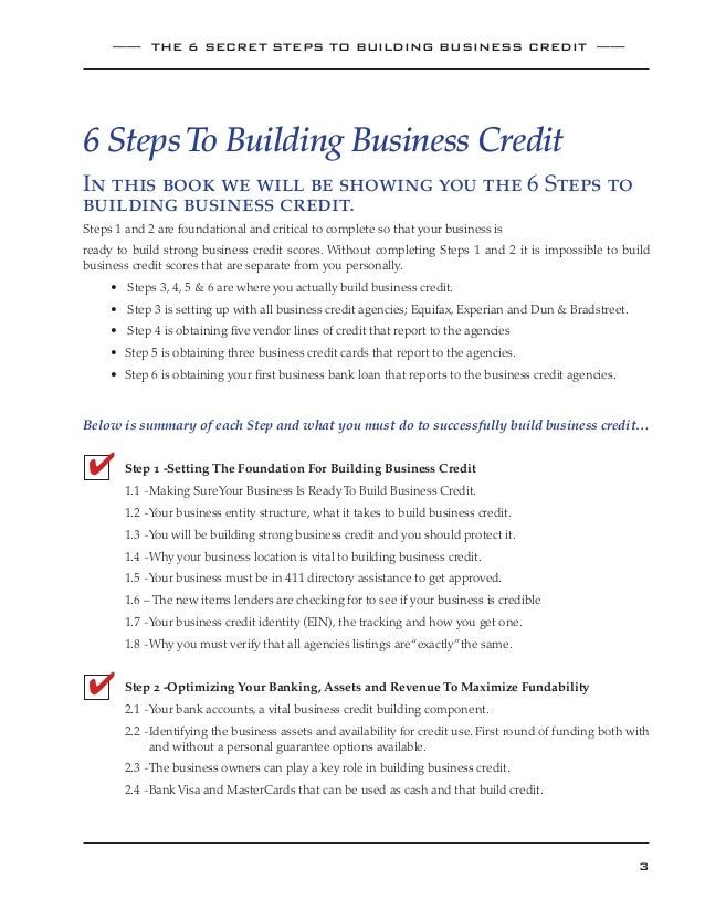 E book build strong business credit scores fast business credit reports with experian equifax dun and bradstreet 3 colourmoves Choice Image