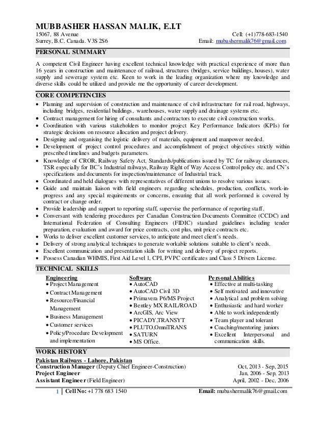 Resume-Mubbasher-Railway