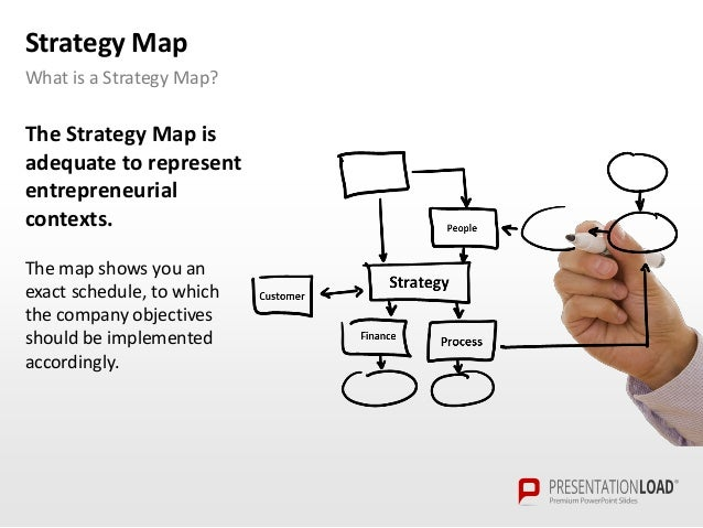 strategy map - powerpoint template, Modern powerpoint
