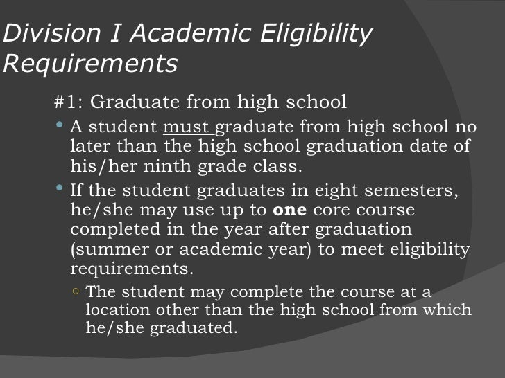 D25 NCAA Eligibility Center and the StudentAthlete – Ncaa Division 1 Worksheet