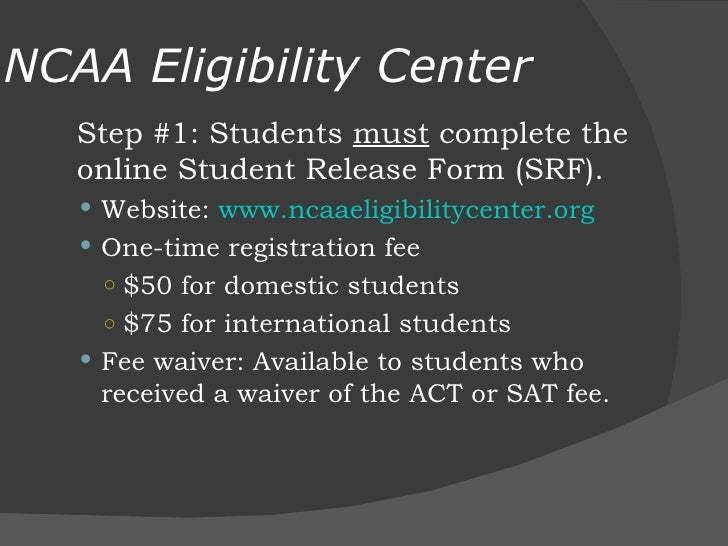 D25 NCAA Eligibility Center and the Student-Athlete