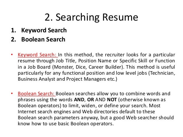 17 2 searching resume - Dice Resume Search