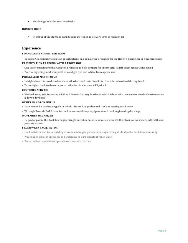 Attractive Racing Engineering Resume Mold - Administrative Officer ...