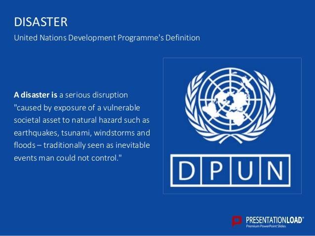 Disaster management ppt slide template disaster definition 5 disaster united nations toneelgroepblik Images