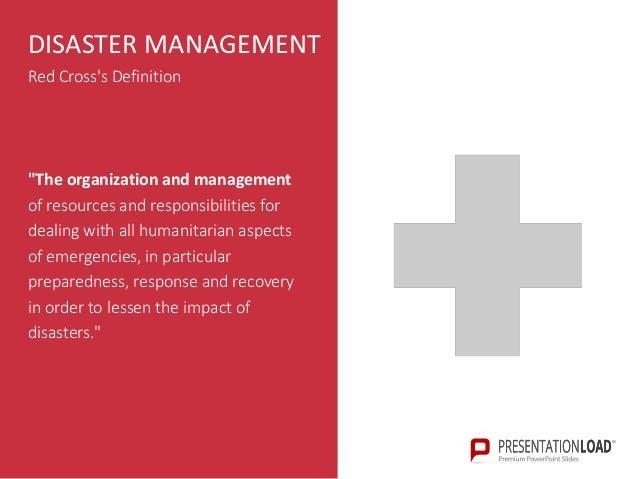 Disaster management ppt slide template 6 disaster management red crosss toneelgroepblik Gallery