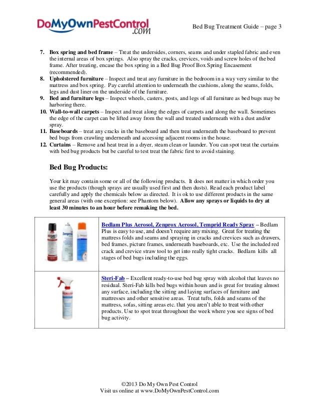 Bed Bug Treatment Guide
