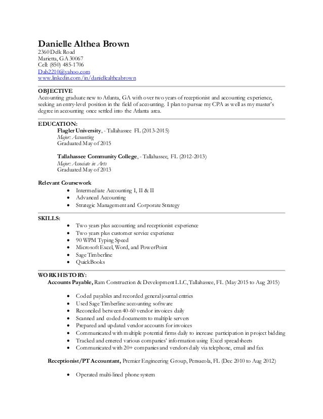Danielle Brown Resume