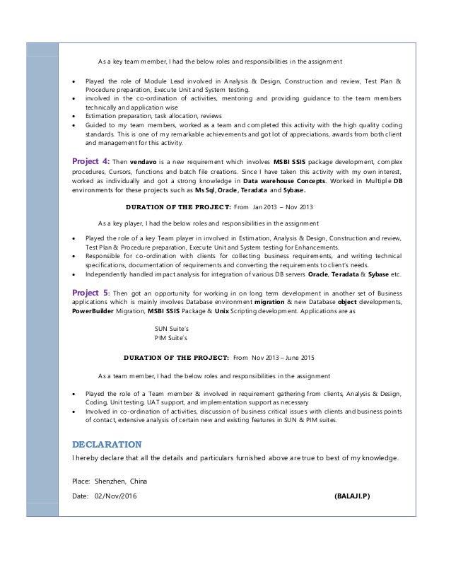 balaji p resume