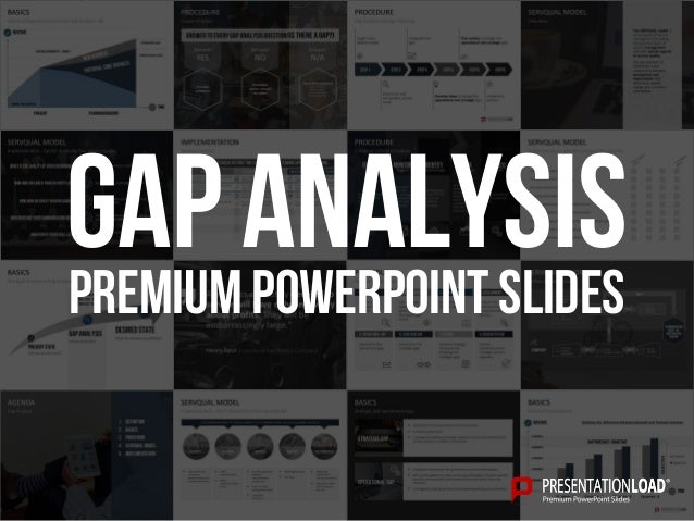 gap analysis ppt slide template, Modern powerpoint