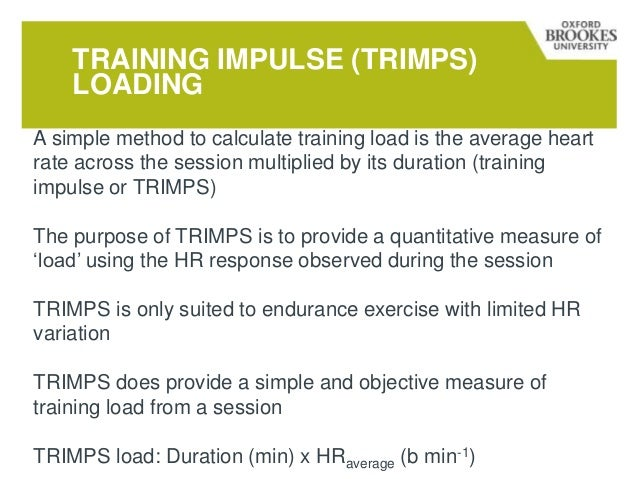 Monitoring training