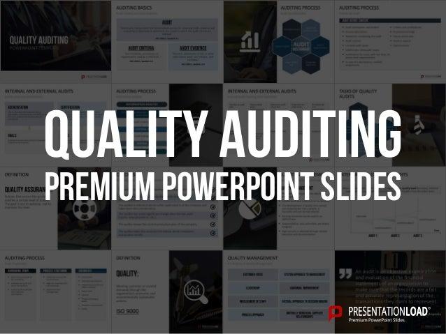 quality auditing ppt slide template. Black Bedroom Furniture Sets. Home Design Ideas