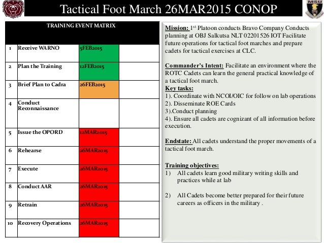 tactical foot march conop  3