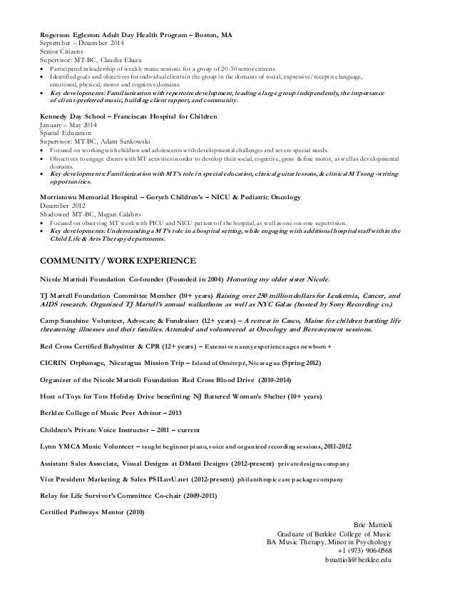 Mt resume