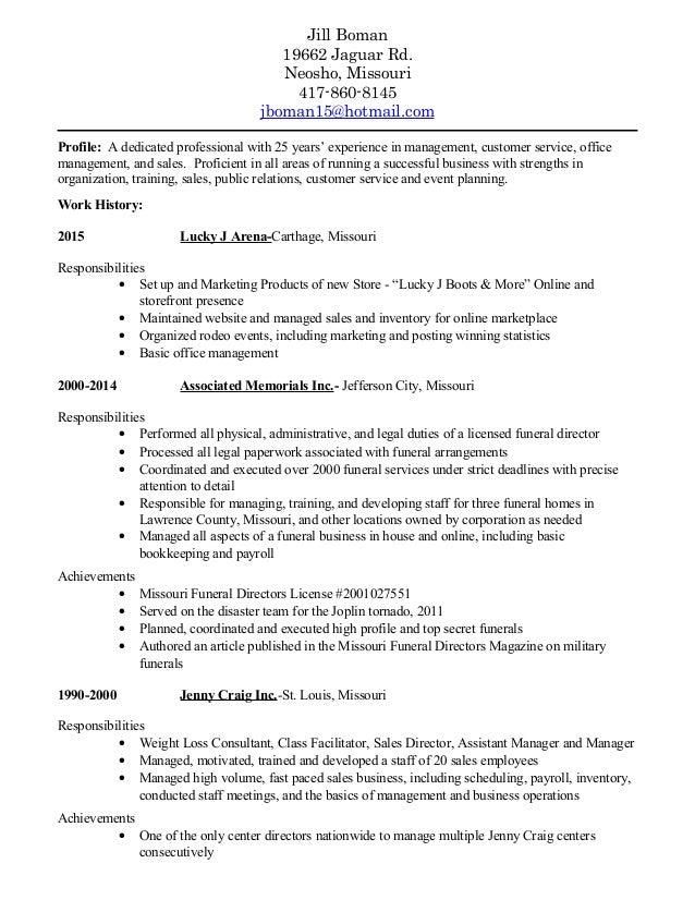 jill resume 2017