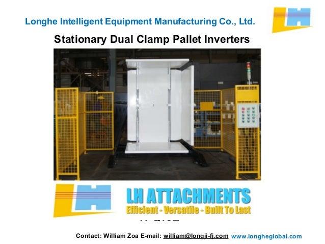 Stationary Load Inverter Pallet Inverter Bulle Pallet: Stationary Dual Clamp Pallet Inverters