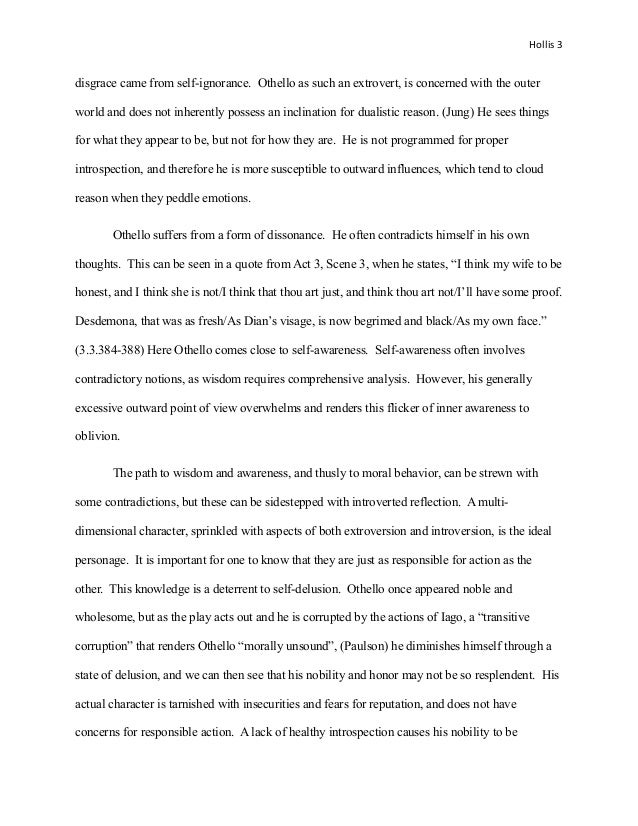 essay hollis  othello s 3