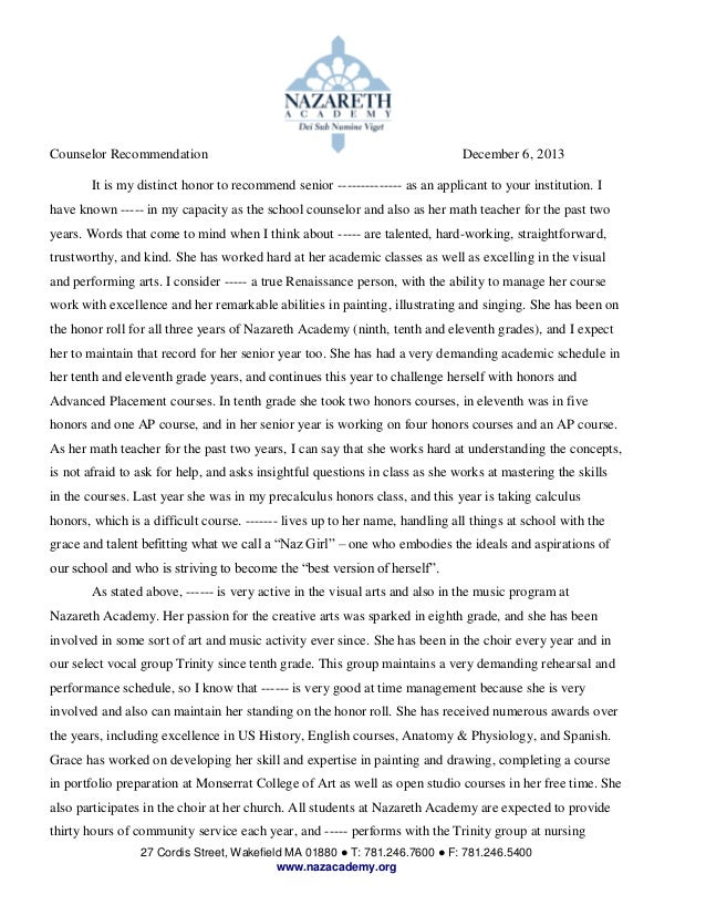Writing sample for reed barbara nazareth academy letter of reference 27 cordis street wakefield ma 01880 t 7812467600 f yadclub Image collections