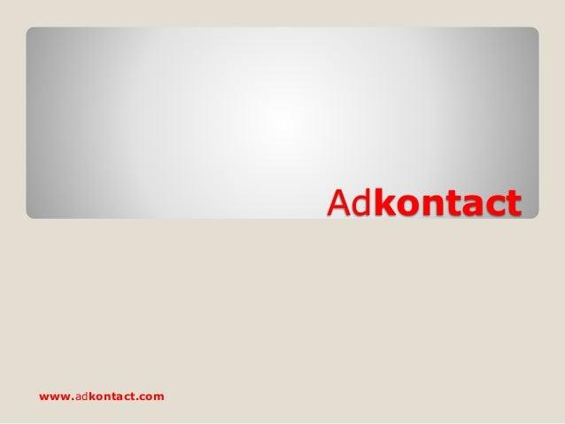 Adkontact www.adkontact.com