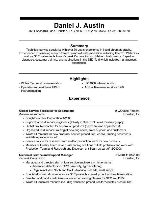 Daniel Austin Resume