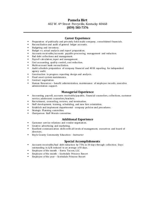 Pamela Birt Resume April 2015 2