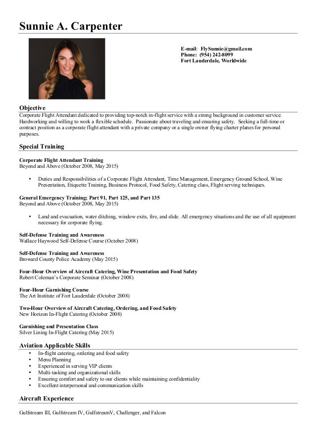 sunnie carpenter resume