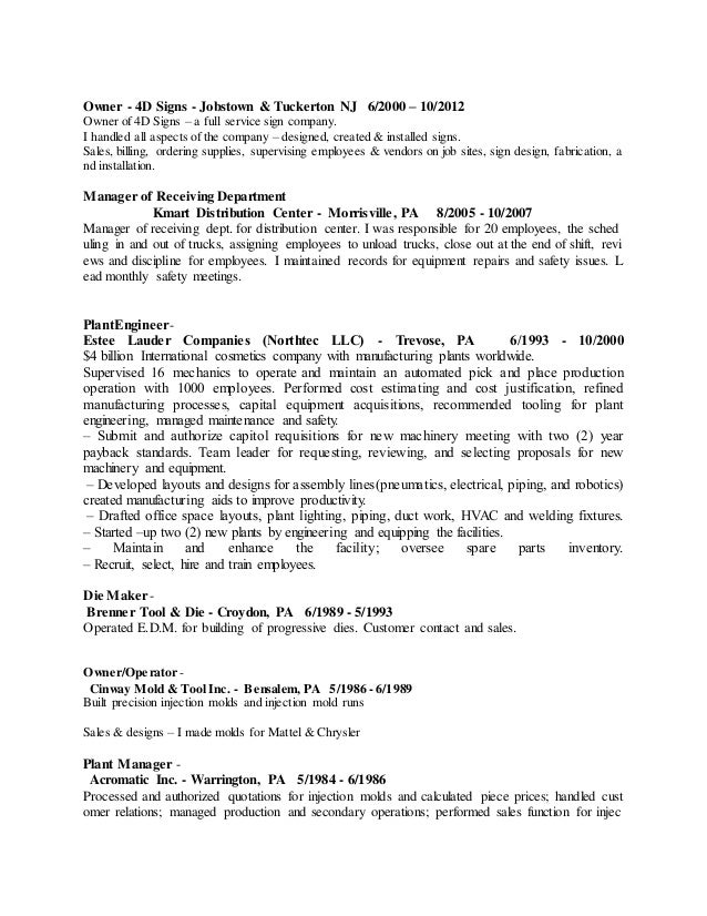 2 - Tool And Die Maker Resume