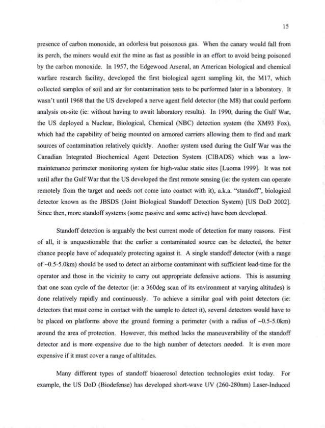 chemical warfare thesis statement