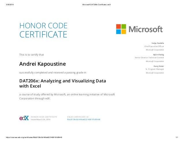 microsoft dat206x certificate edx