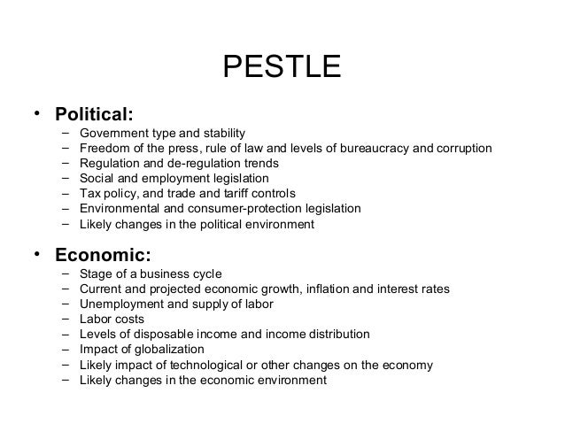 how is pestle affecting the company An organisation on its own cannot affect these factors, nor can these factors   pestle analysis can be used for business and strategic planning,.
