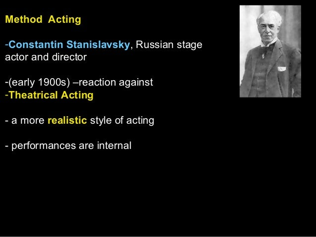 acting definition Freebase (000 / 0 votes) rate this definition: method acting in the dramatic arts, method acting is a group of techniques actors use to create in themselves the thoughts and feelings of their characters, so as to develop lifelike performances.