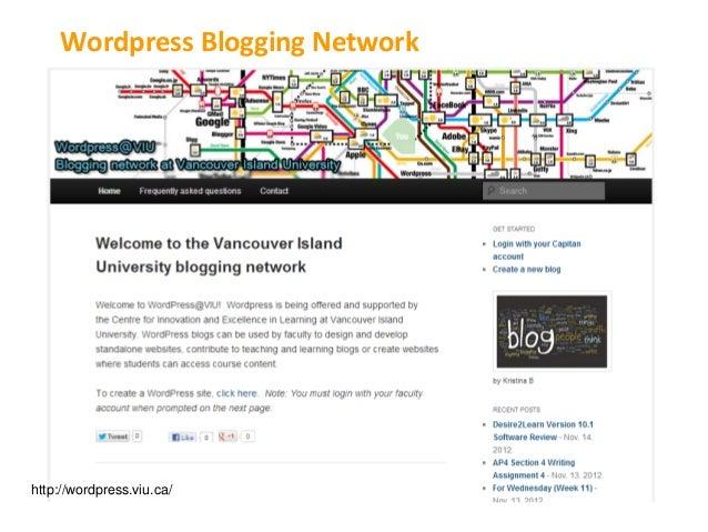 Wordpress Blogging Networkhttp://wordpress.viu.ca/