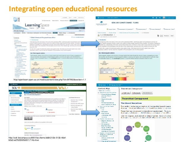 Integrating open educational resources    http://openlearn.open.ac.uk/mod/oucontent/view.php?id=397952&section=1.1http://s...