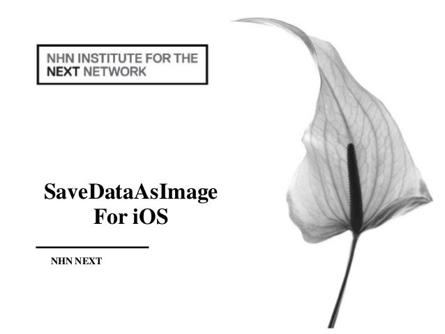 SaveDataAsImage For iOS NHN NEXT