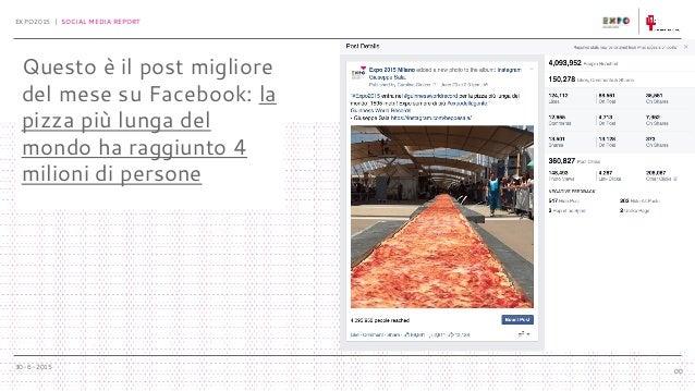 30-6-2015 EXPO2015 | SOCIAL MEDIA REPORT 00 Questo è il post migliore del mese su Facebook: la pizza più lunga del mondo h...