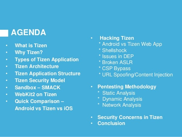AGENDA • What is Tizen • Why Tizen? • Types of Tizen Application • Tizen Architecture • Tizen Application Structure • Tize...