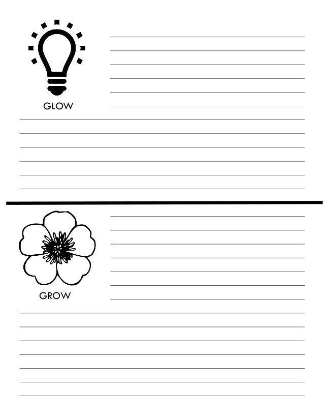 Glow and Grow critique worksheet
