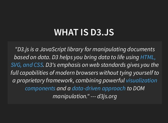 Learn D3 js in 90 minutes