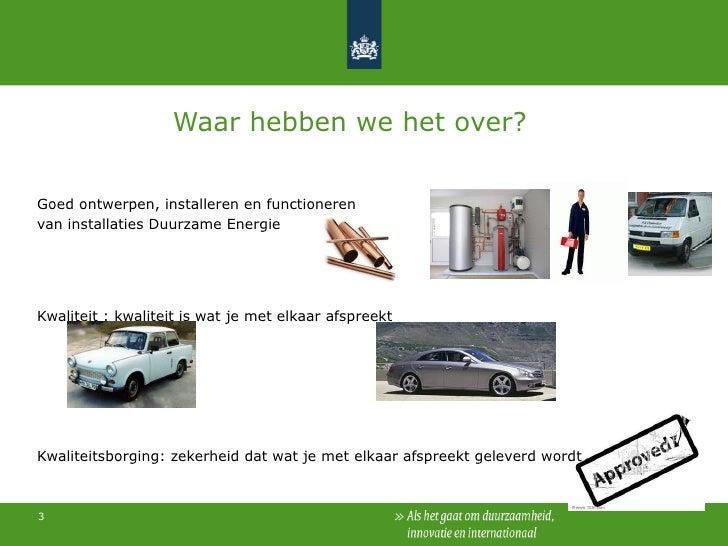 Kwaliteitsborging Duurzame Energie installateurs Slide 3