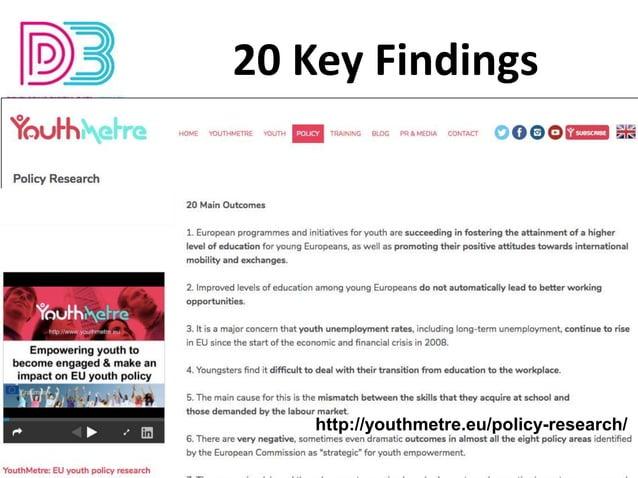 KA2 - 2019-1-BE02-KA201-060212 20 Key Findings http://youthmetre.eu/policy-research/