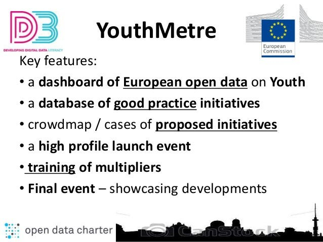 YouthMetre Key features: • a dashboard of European open data on Youth • a database of good practice initiatives • crowdmap...