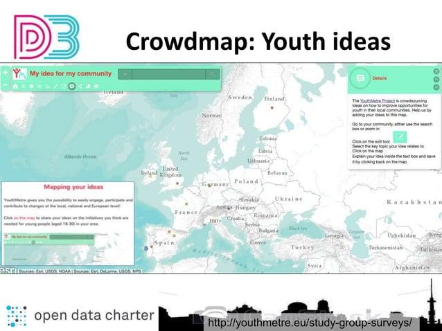 http://youthmetre.eu/study-group-surveys/ Crowdmap: Youth ideas