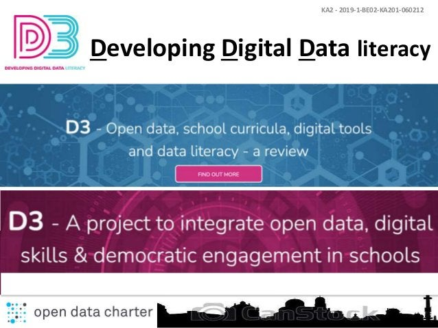 KA2 - 2019-1-BE02-KA201-060212 Developing Digital Data literacy