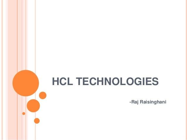 HCL TECHNOLOGIES -Raj Raisinghani