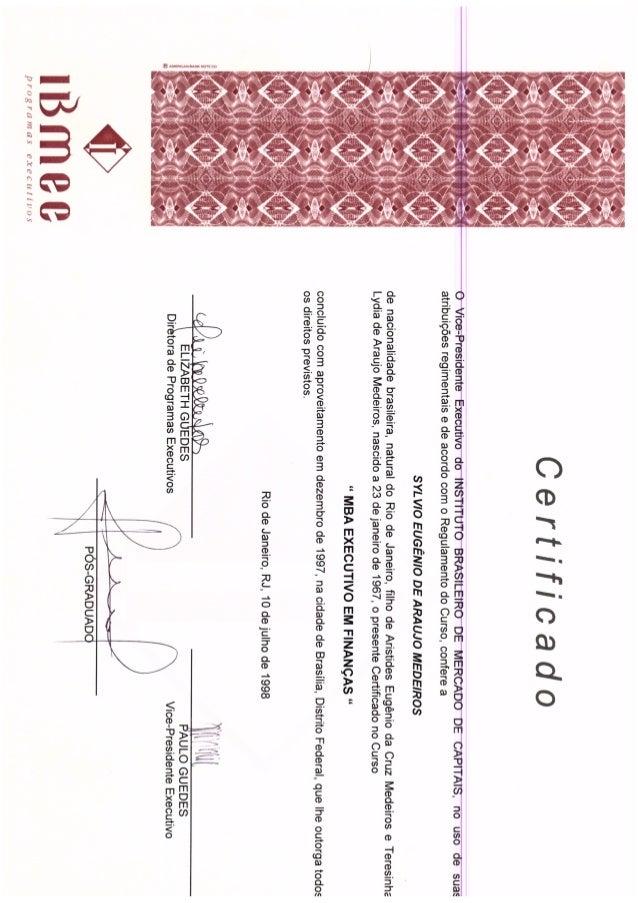 Certificado Pós IBMEC